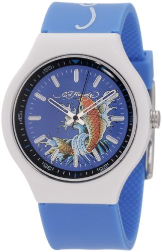 Ed Hardy Men's NE-BL Neo Blue Watch