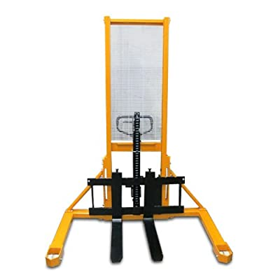 JORESTECH Manual Pallet Stacker with Fixed Legs - 2200-Lb. Capacity, 63in. Max. Lift