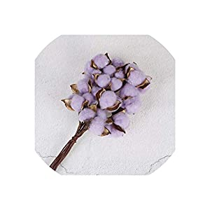YOUNG-STYLE 10/pcs DIY Scented Home Wedding Party Decoration Cotton Color Single Dried Flowers Crafts from Artificial Flowers,B 33