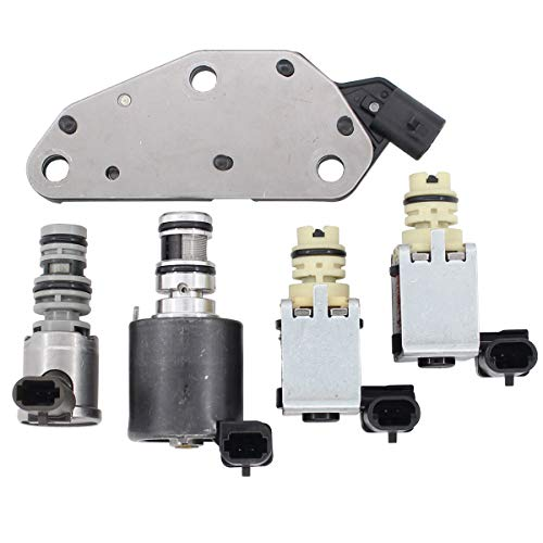 (NewYall Trans Transmission Shift & EPC & TCC PWM Downshift Solenoid Set w/Manifold Pressure Switch )