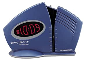 Soundesign 3633 Wacky Wake-Up Alarm Clock Radio (Discontinued by Manufacturer)