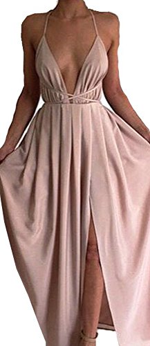 backless prom dress with straps - 3