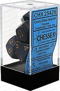 10d10 Opaque Dusty BlueCopper Chessex CHX25226