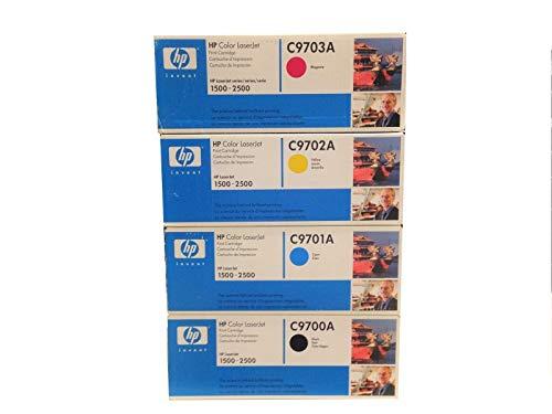 HP C9700A, C9701A, C9702A, C9703A Complete Color Set (Black, Cyan, Yellow, Magenta)