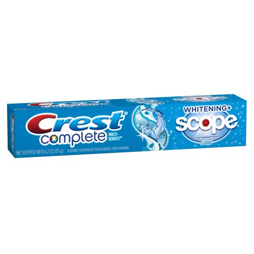 Crest Complete Multi-Benefit Whitening + Scope, Cool Peppermint Toothpaste – 6.2 Oz