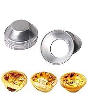 Aohua mode 10 STKS Ronde Antistick Bak Ei Tart Mould Cream Cupcake Pudding Pie Jello Mold Bak Cup Gereedschap voor Home Decoratie