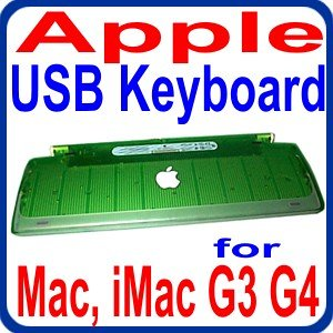Apple USB Translucent GREEN M2452 97-Key Keyboard for Mac, PowerMac G3, G4 and all other MACs with USB port