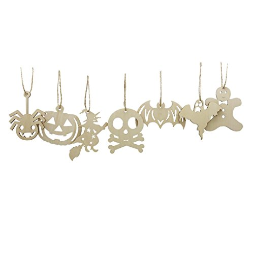 Hatop 50pcs Party Ball Kraft Paper Tag Hollow Out Wall Jewelry Halloween Tag Gift (B)