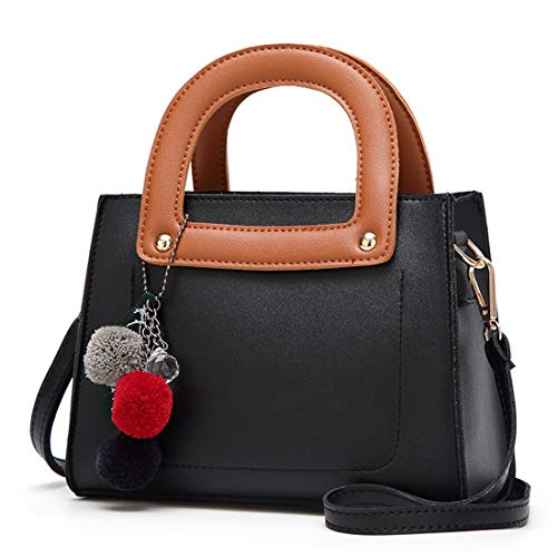 Femme Black Mode Main Décontracté À Vague Dhrfyktu color L'épaule Petit Sac La Bandoulière Carré Simple Black HfTUTwYqS