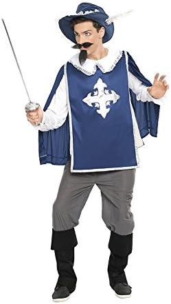 Disfraz de Mosquetero Azul para hombre: Amazon.es: Juguetes y juegos