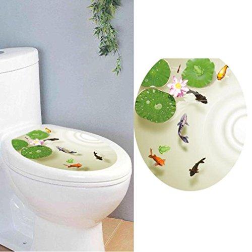 Hatop Toilet Seat Wall Sticker Decals Vinyl Art Wallpaper Removable Decor (C)