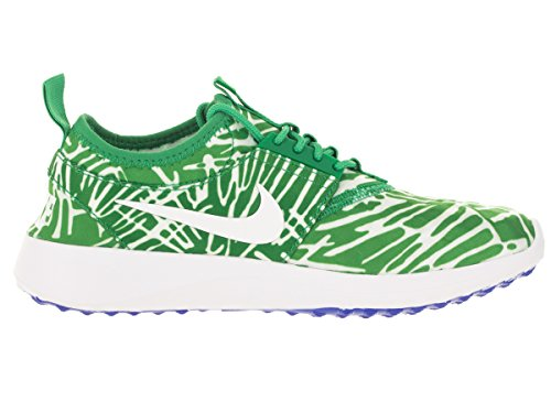 Nike Juvenate Print Donna Tinta Unita In Tela Grigia Scarpa Da Running Primavera Foglia / Bianco / Blu Da Corsa