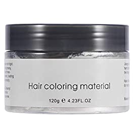 NCONCO 120ML Hair Dye Mud, Unisex Disposable Hairdressing Cream Hair Styling Coloring Wax