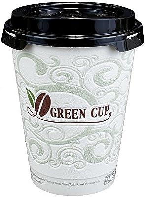 Verde taza, desechables con aislamiento vasos de café caliente ...