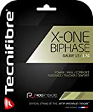 Tecnifibre X-One Biphase Multifilament Tennis Racquet String Sets – 15, 16, 17 and 18 Gauge in Natural Color – in Multi-Packs – Best for Power and Comfort (2-4-6-8-Packs)