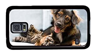 Hipster Samsung Galaxy S5 Case for sale Dog Cat Friends PC Black for Samsung S5