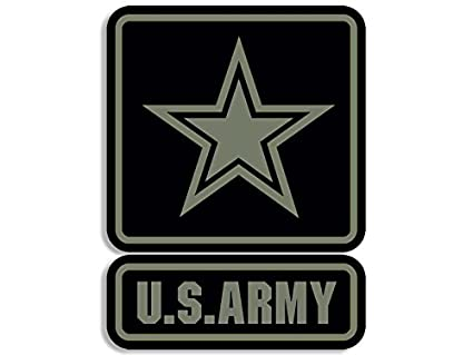 amazon com 2 piece us army logo black green subdued color sticker rh amazon com