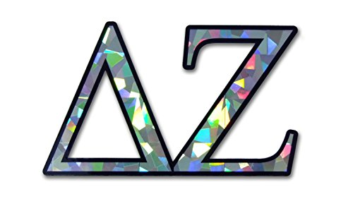 DZ Delta Zeta Sorority Reflective Decal Sticker (Delta Zeta Car Decal)