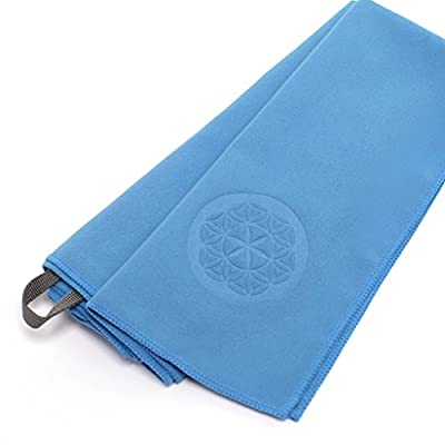 #1 Rated Travel Towel and Sports Towel - MICROFIBER - Guarantee Bleed Free - Includes Hook