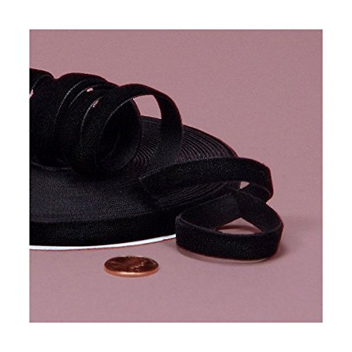 Black Velvet Ribbon, 3/8