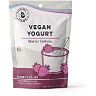 Vegan Yogurt Starter Culture | Cultures for Health | Make delicious batches of nutrient-dense vegan yogurt | Non GMO, Gluten Free | 4 Packets