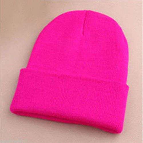 (Usaboutall Direction The Trend Men's Women's Beanie Knit Ski Cap Hip-Hop Winter Warm Unisex Solid Color Hat - Army Green Red Rose)