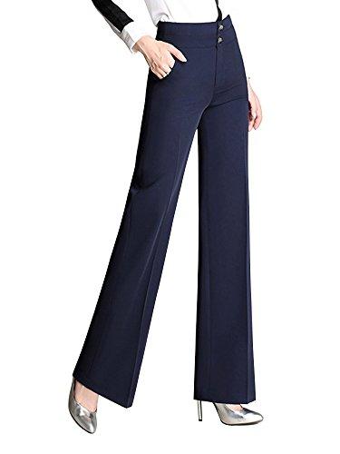 Linen Blend Bootcut Pants - 2