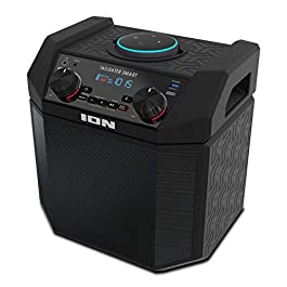 ION 50W Outdoor Echo Dot Speaker Dock/Portable Alexa Accessory With Bluetooth Connectivity and 50 Hour Rechargeable…