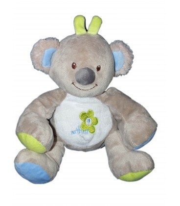 Doudou peluche Koala Panda gris verde azul bébisol - Arthur ...