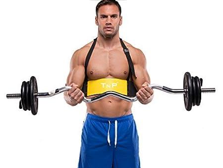 TNP Accessories® Peso Levantamiento brazo bíceps Curl Bomber aislador Blaster Barra de gimnasio Entrenamiento neopreno apoyo correas 4(Barbell Bar/EZ barra ...