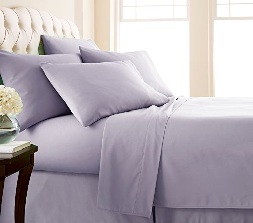 Southshore Essentials - 7 Piece Brushed Microfiber Sheet Set, Evening Haze, Split King (Split Bath)