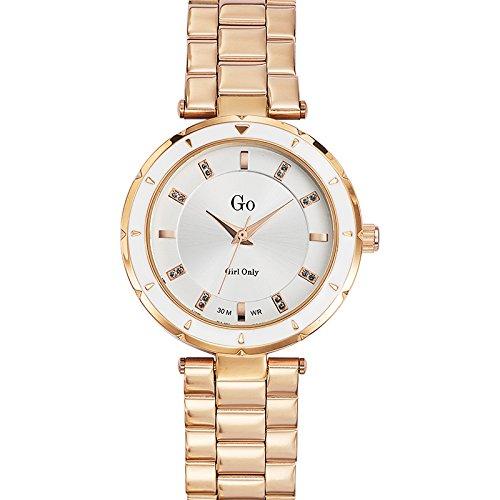 Go girl only 694883 - Reloj de Pulsera Mujer, Acero Inoxidable, Color Dorado: Amazon.es: Relojes