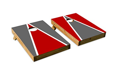 Design Cornhole/Bean Bag Toss Board Set – Made in USA Wood  - 2'x3' Tailgate Size - Includes 8 Corn-Filled Bean Bags (Ohio State Buckeyes Bean Bag)