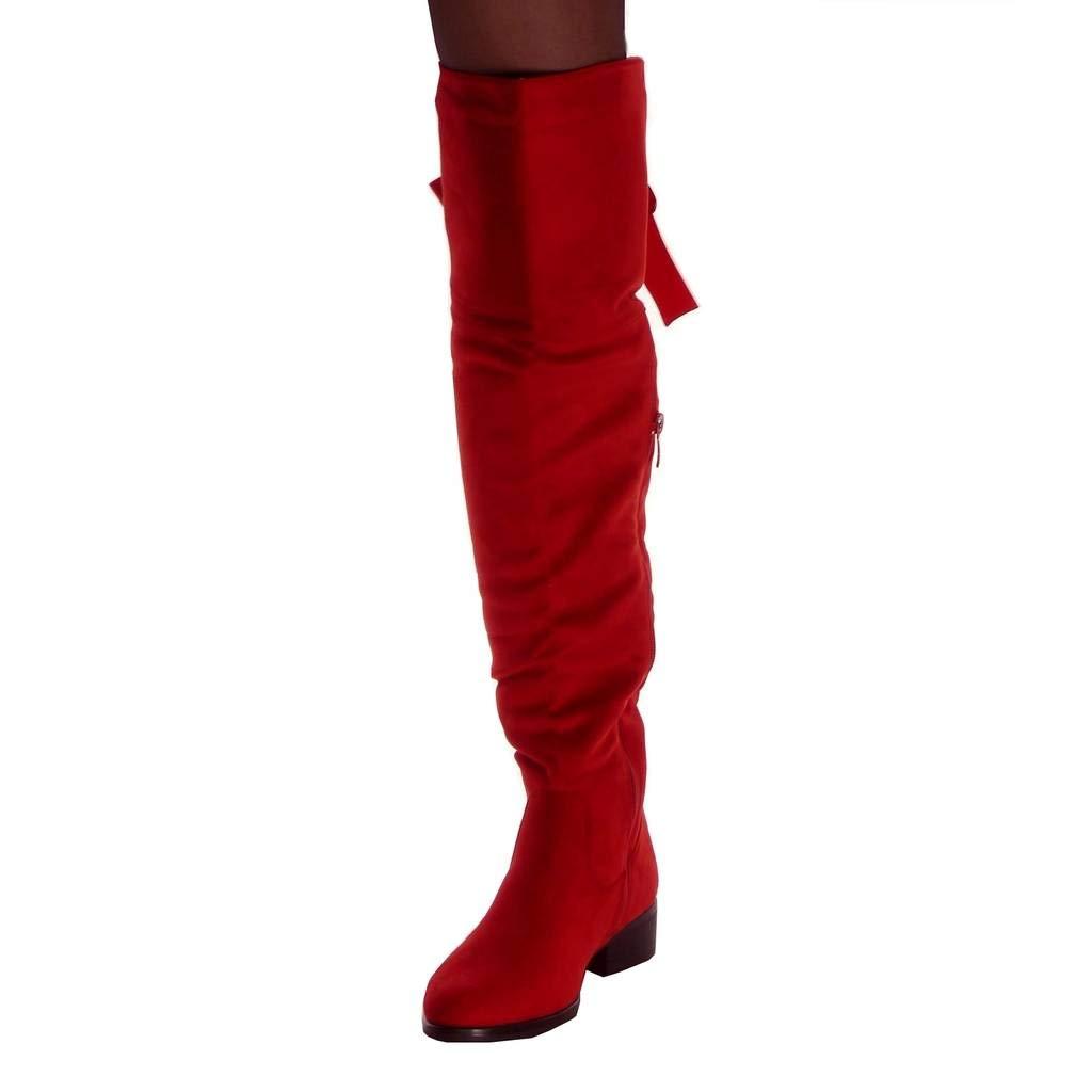 Angkorly - Zapatillas Moda Botas Altas Cavalier Flexible Mujer ...