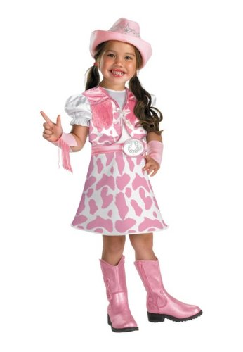 Disguise Wild West Cutie Toddler Costume, 3T-4T (Pink Cowgirl Costume)