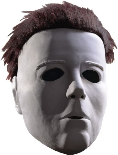 Halloween Movie Michael Myers Mask With Wig, White, One Size
