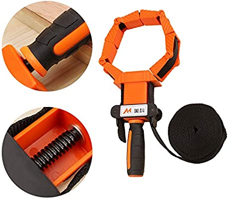 Orange /& Black 4m Nylon Straps Clip Multi-Function Binding Clip Multilateral Angle Quick Adjustable Band Clamp Woodworking Tool Clamp