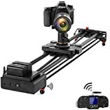 GVM Video Slider Wireless Carbon Fiber Motor Camera Slider with Bluetooth Remote & Mobile App Control 31?/80cm Electronic Camera Slider Auto Loop Track System Shooting Equipped