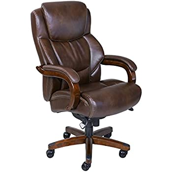 La Z Boy Delano Big U0026 Tall Executive Bonded Leather Office Chair   Chestnut  (Brown)