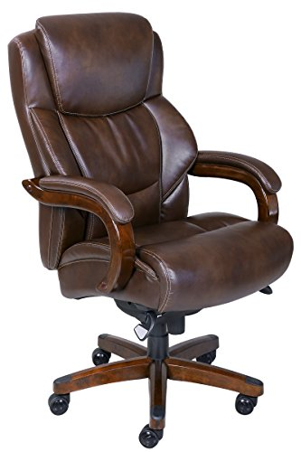 La-Z-Boy Delano Big & Tall Executive Bonded Leather Office Chair – Chestnut (Brown)