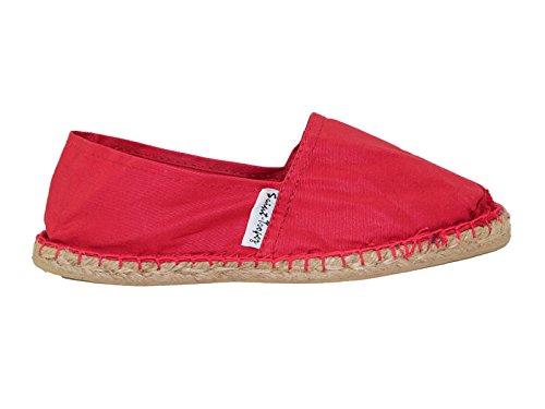 Schuhe TS Lässige Plimsoll Slip Größe Espadrille 8 Canvas Damen Rot On Clearance 3 Pumps a8xZgwq