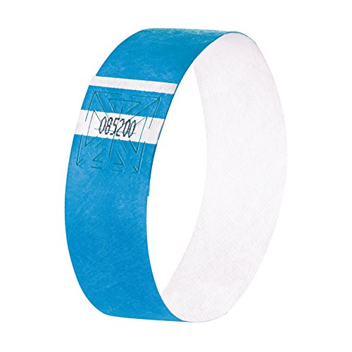 Sigel EB211 Event Wristbands Super Soft, neon blue, 10.04 x 0.98 inches, 120 pcs. -