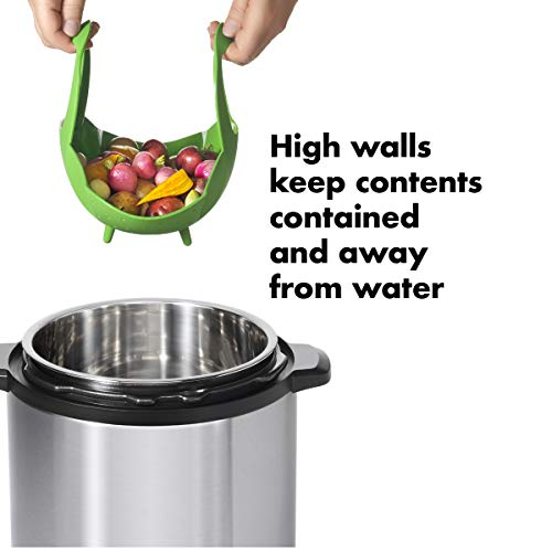 OXO Good Grips Silicone Steamer, Green by OXO (Image #3)