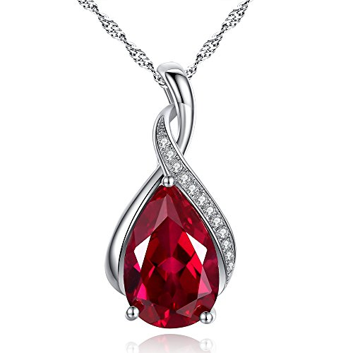 Sterling-Silver-30ct-Pear-Cut-Created-Emerald-Ruby-Pendant-Necklace-18-a-Special-Gift-for-Thanksgiving-and-Christmas
