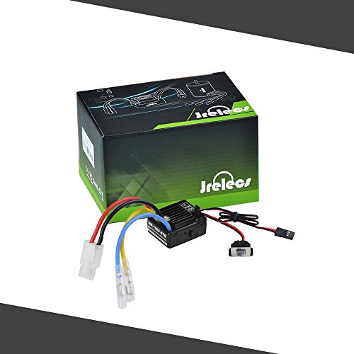 (Jrelecs WP-1060-RTR 60A Waterproof Brushed ESC Electric Speed Controller with 5V/2A BEC for 1/10 RC Car)