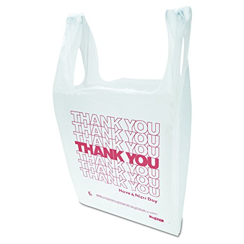 Inteplast Group THW1VAL''Thank You'' Handled T-Shirt Bags, 11 1/2 x 21, Polyethylene, White (Case of 900) by Inteplast (Image #3)