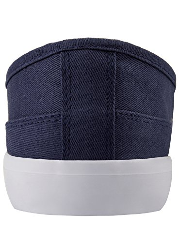 oodji Ultra Mujer Zapatillas Slip On Básicas de Algodón Azul (7900N)