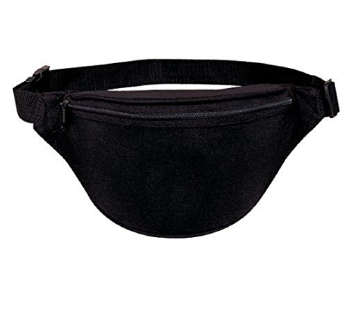 Yens® Fantasybag 2-Zipper Fanny Pack -Black, FN-611