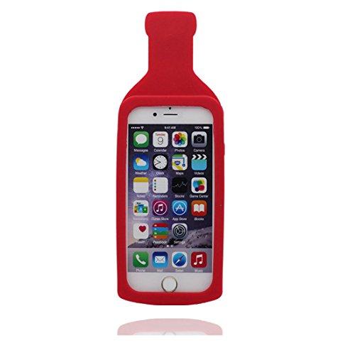 """Coque iPhone 6, iPhone 6s Étui (4.7""""), [ TPU Material Flexible ] iPhone 6 case (4.7""""), Dust Scratch Resistant, 3D Hot Sauce Bottle souple et ring Support de téléphone"""