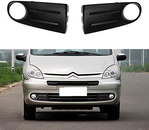 Phares Anti-Brouillard Ou/ïes Fit for Citroen Xsara Picasso Fog Abat Couvre-phares Phares Antibrouillard Cadre Grill Color : Covers, Color Temperature : L and R